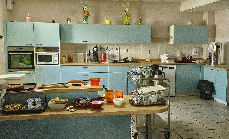 Photo de la Cuisine bleu