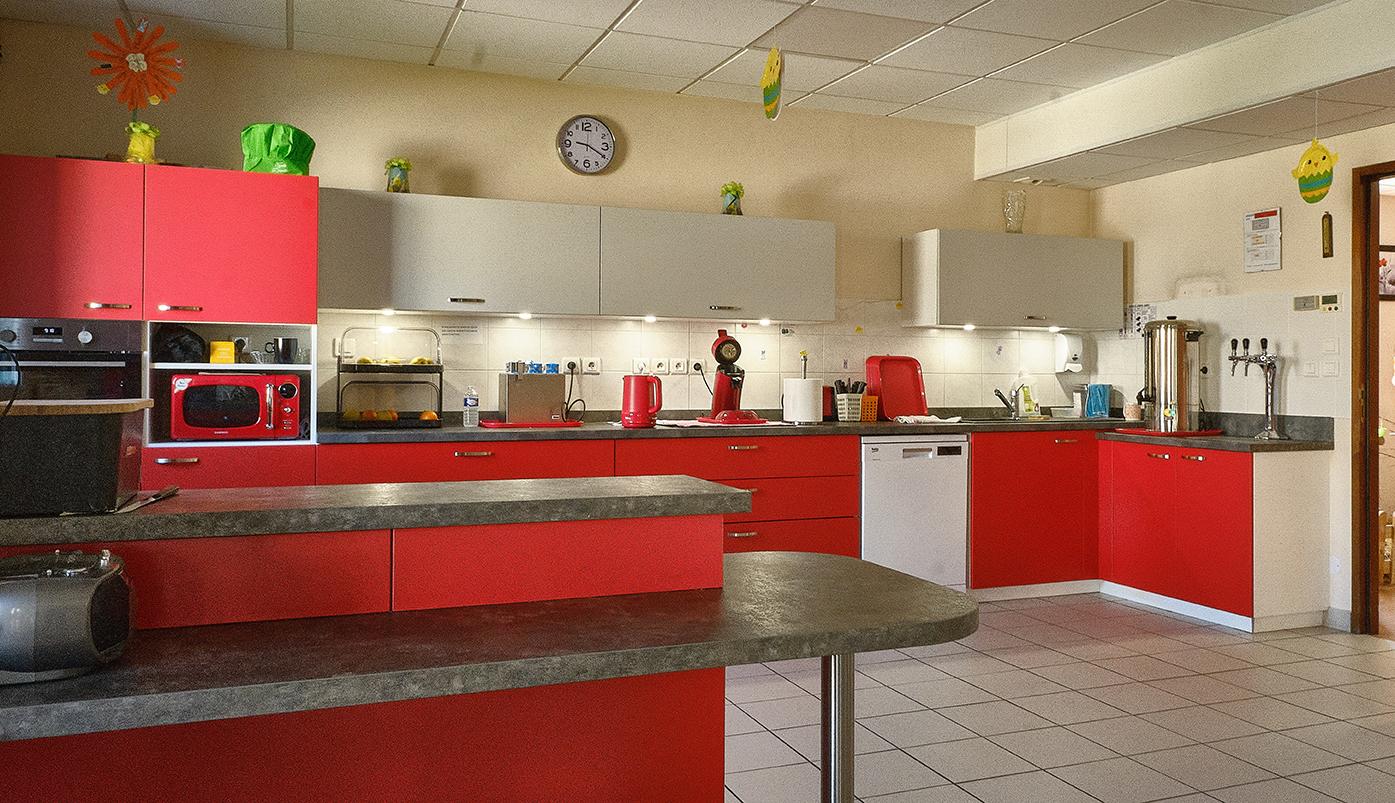 Photo de la cuisine rouge