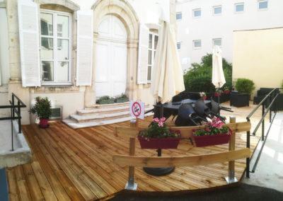 Photo de la terrasse en bois