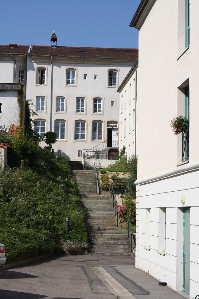 Vue des trois bâtiments